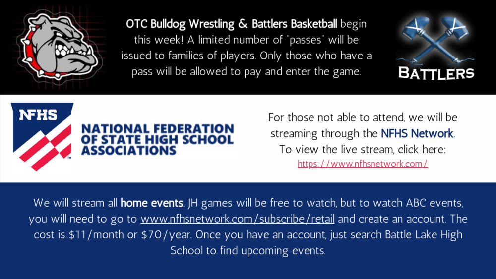 OTC Bulldog Wrestling & Battlers Basketball
