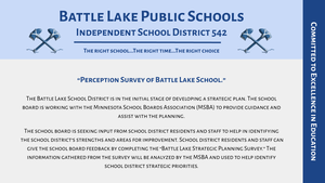 Perception Survey of Battle Lake School