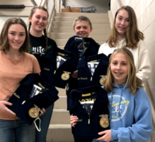 Battle Lake FFA Members Receive Blue Jackets
