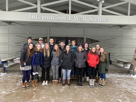 Advanced Biology class heads to the International Wolf Center in Ely, MN