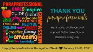 It's Paraprofessional Recognition Week!