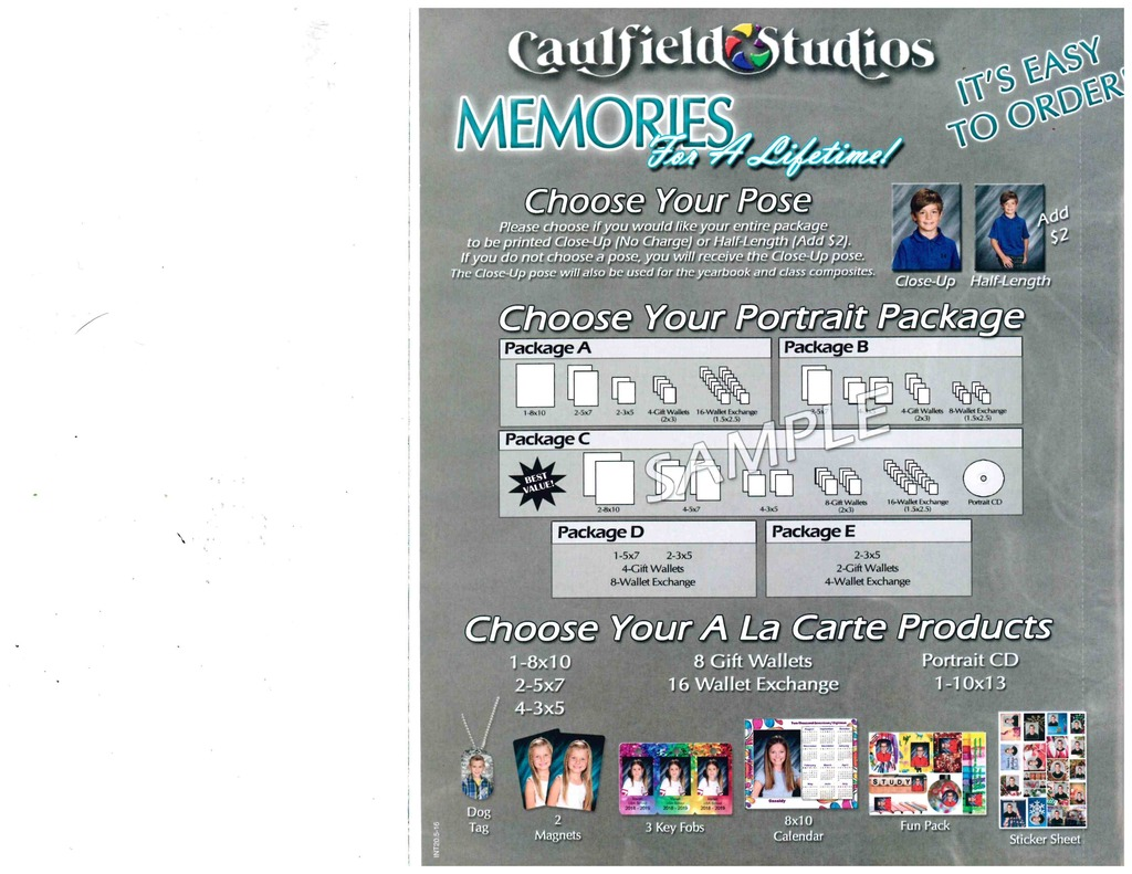 Caufield Studio Packages