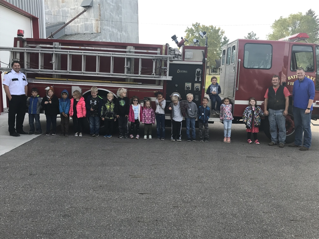 The Kindergarten classes visited the Fire Station this week!