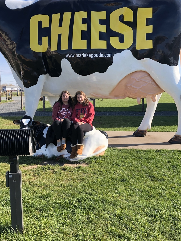 Kate Johansen and Emmie Lundquist at Marieke Gouda cheese in Thorp, WI.