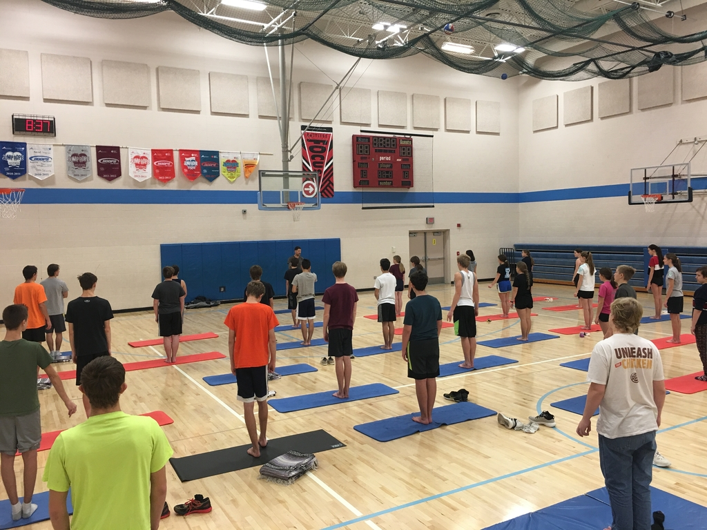 Yoga day with Mr. Scott!