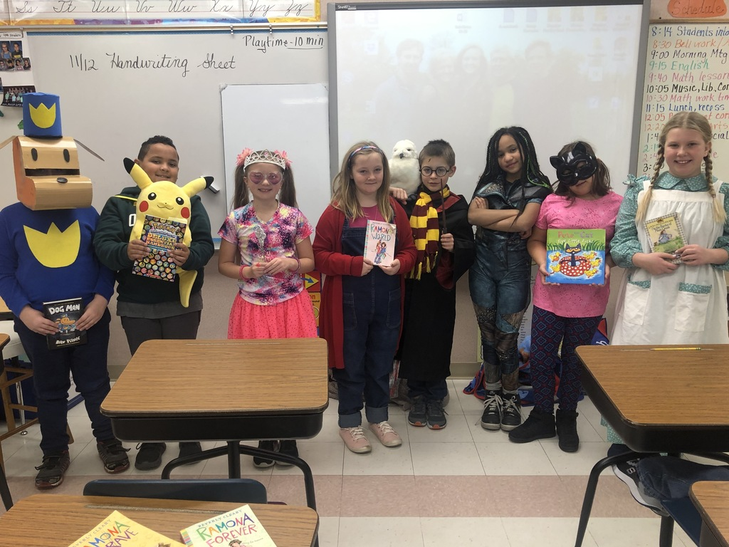Dressed as our favorite storybook characters!