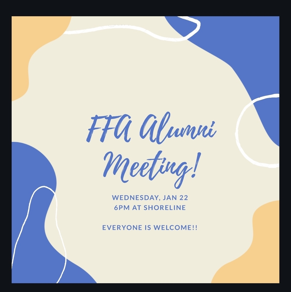 Battle Lake FFA Alumni meeting Jan 22 at 6 pm at Shoreline