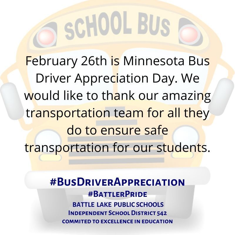 What's Happening Wednesday - Bus Driver Appreciation Day
