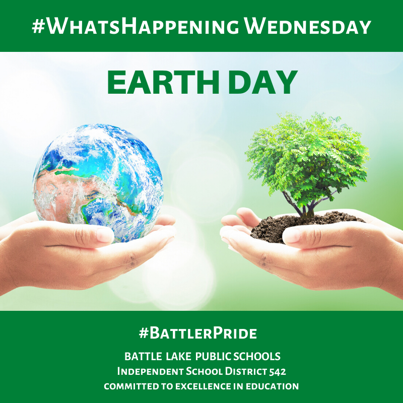 What's Happening Wednesday (Earth Day) 4/22/20